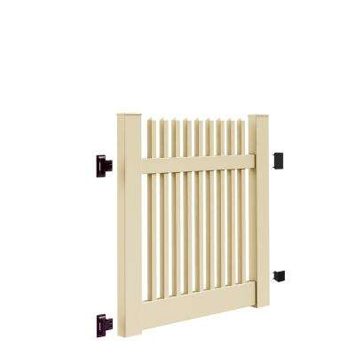 Yukon Straight 4 ft. W x 4 ft. H Sand Vinyl Un-Assembled Fence Gate