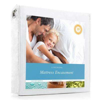 Zippered Polyester Encasement Queen Mattress Protector