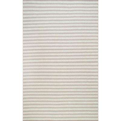 Outdoor Striped Yasmin Ivory 8 ft. x 10 ft. Area Rug
