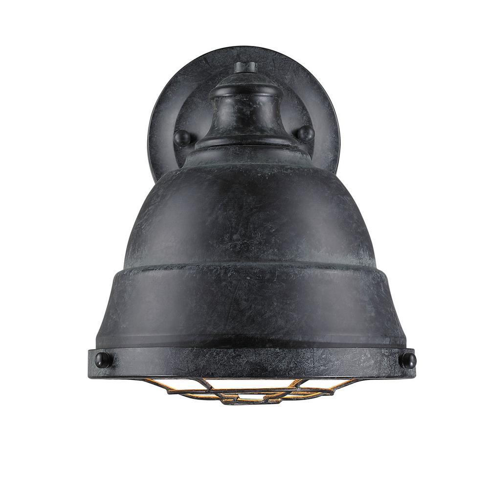 Bartlett 1-Light Black Patina Wall Sconce