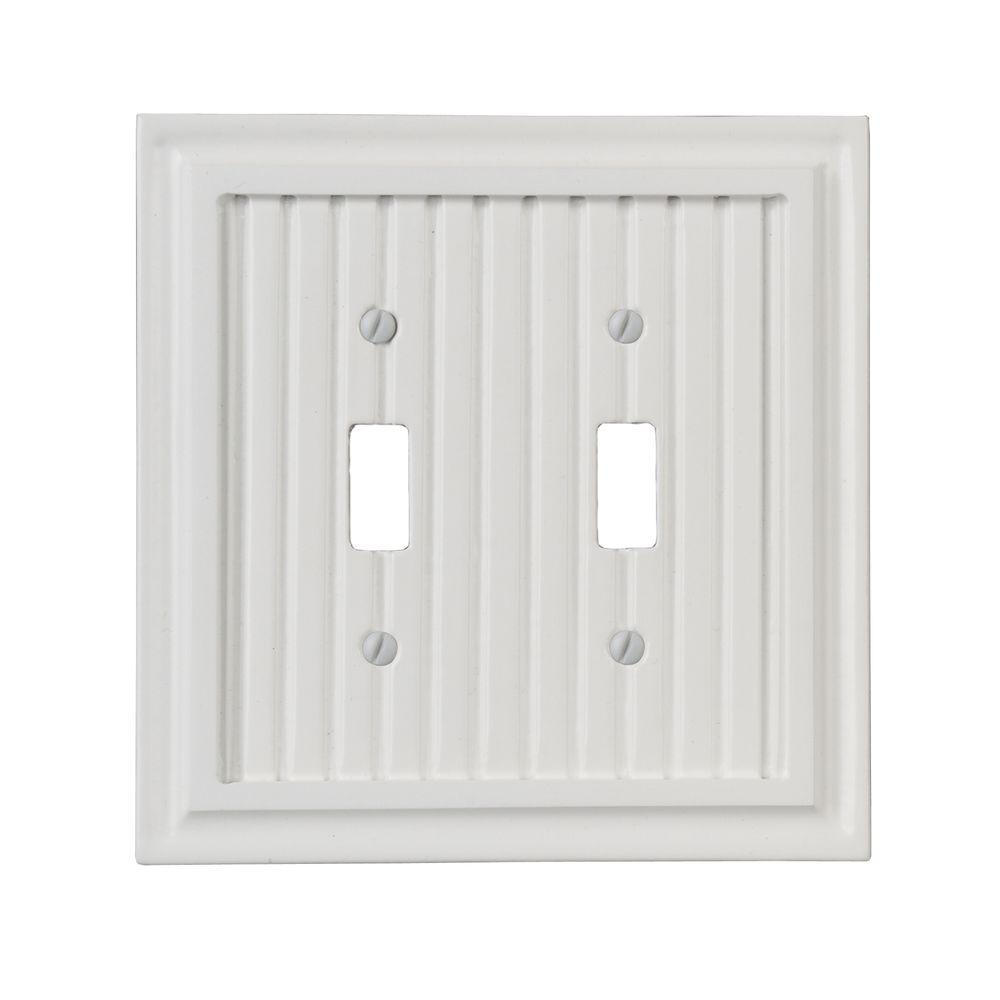 Amerelle Cottage 2 Toggle Wall Plate - White