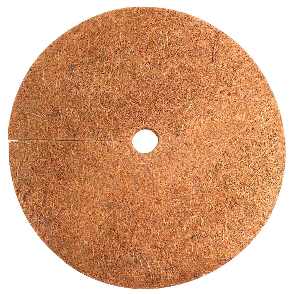 Envelor 14 in. x 0.3 in. Coconut Fiber Mulch Tree Ring Protector Mat (10-Pack)