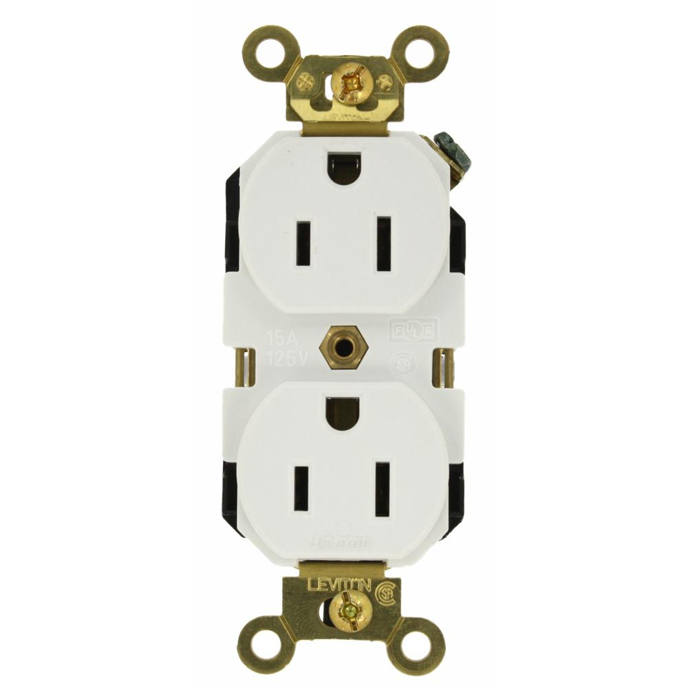 Leviton 20 Amp Self Test Smartlockpro Slim Duplex Gfci Outlet White L520 Wire Diagram R12 Gfnt2 0rw The Home Depot