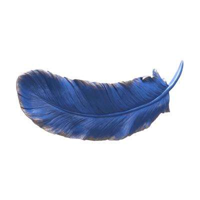 Pluma Resin Blue Small Wall Decor