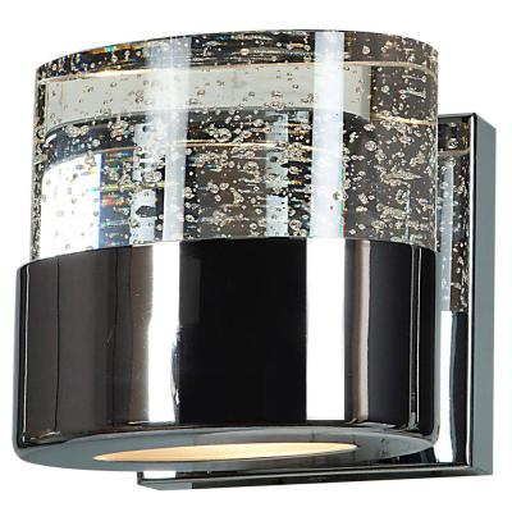 Bubbles 1-Light LED Chrome Bath Light with Clear Diffuser