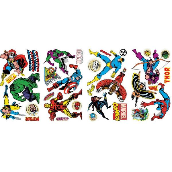 RoomMates 5 in. x 11.5 in. Marvel Classics Peel and Stick