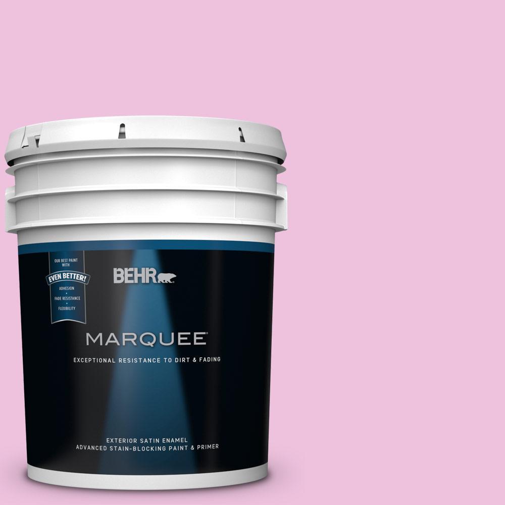BEHR MARQUEE 5-gal. #P120-1 Starlet Pink Satin Enamel Exterior Paint ...