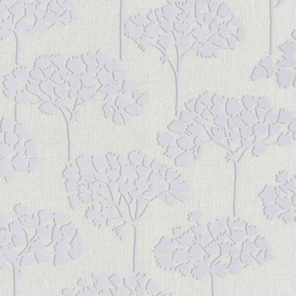 Graham & Brown 56 sq. ft. Sherwood White Wallpaper-DISCONTINUED
