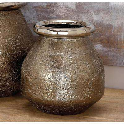 Copper Brown Ceramic Decorative Vase