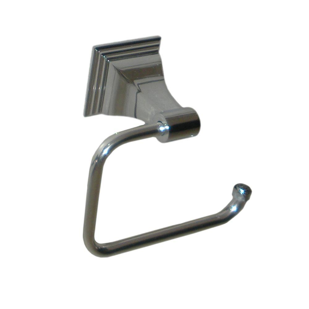 Leonard Collection Euro Style Single Post Toilet Paper Holder in Chrome