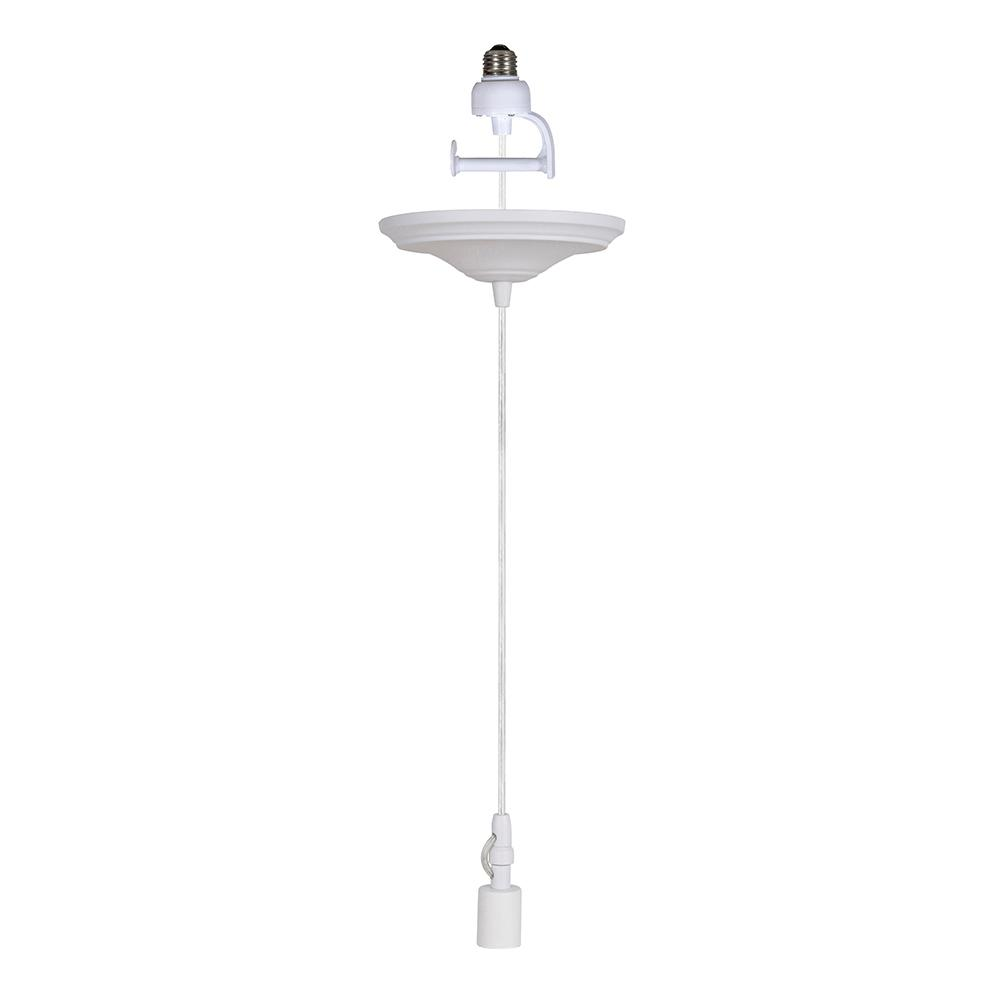 Worth Home Products Instant Pendant 1 Light White Recessed