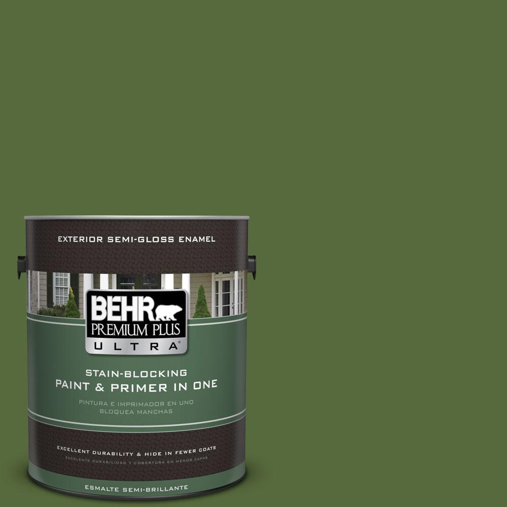 1-gal. #410D-7 Mountain Forest Semi-Gloss Enamel Exterior Paint
