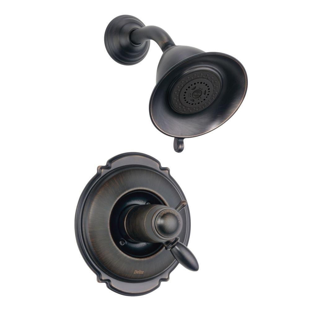 Victorian TempAssure 17T Series 1-Handle Shower Faucet Trim Kit in Venetian Bronze (Valve Not Included)