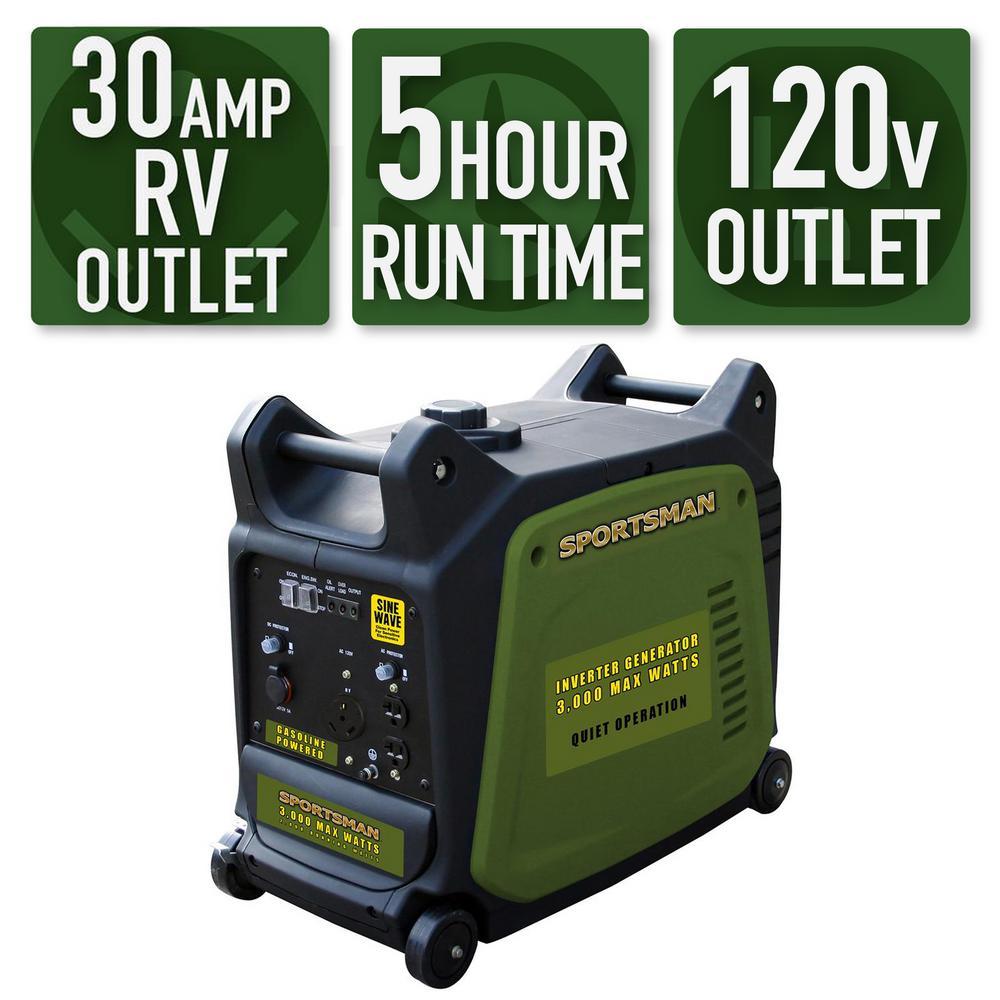 3,000/2,800-Watt Gasoline Powered Digital Inverter Generator