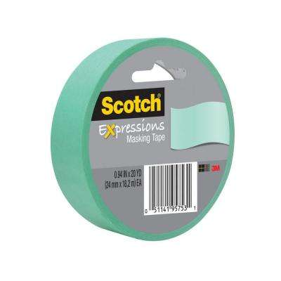 Scotch 0.94 in. x 20 yds. Mint Green Expressions Masking Tape (Case of 36)
