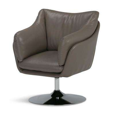 Jasper Taupe Air Leather Swivel Chair (Set of 1)