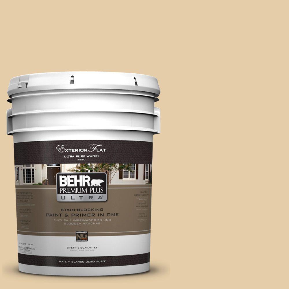 BEHR Premium Plus Ultra 5-gal. #UL150-6 Dried Plantain Flat Exterior Paint