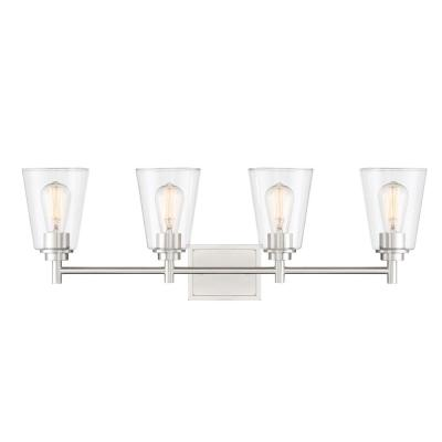 Westin 4-Light Satin Platinum Bath Bar Vanity Light