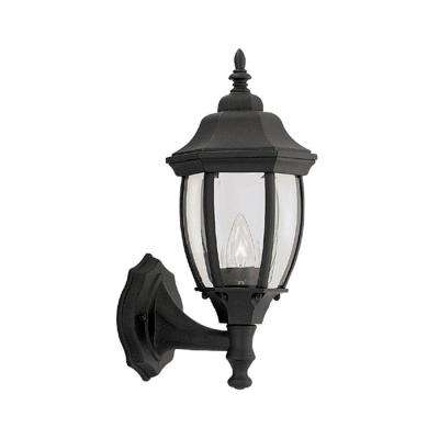 Windsor Mill Collection Solid Black Outdoor Wall-Mount Lantern