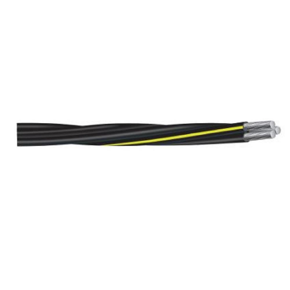 500 ft. 4/0-4/0-2/0 Black Stranded AL Triplex URD Cable