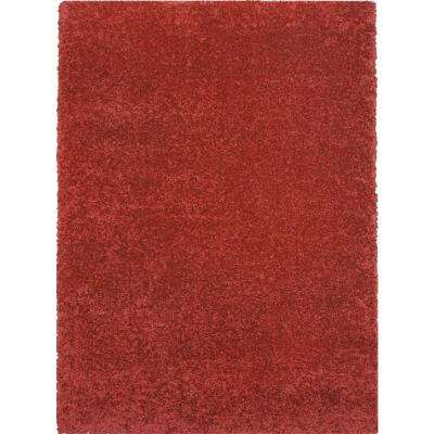 Hanford Shag Red 2 ft. x 3 ft. 5 in. Area Rug
