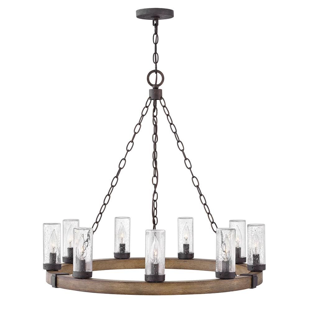 Sawyer 9-Light Sequoia Outdoor Single Tier Chandelier