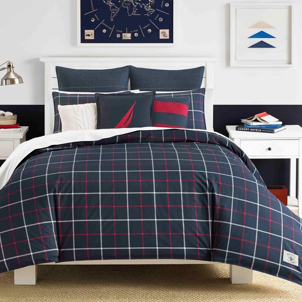 Tillington 3-Piece Navy King Cotton Comforter Set