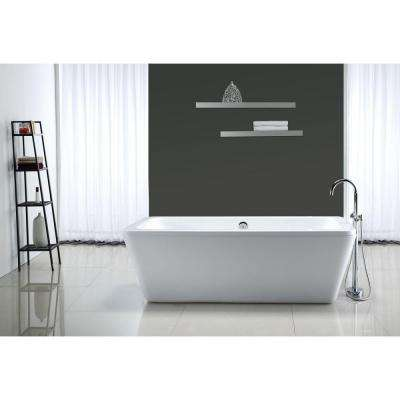 Kido 5.75 ft. Center Drain Bathtub in White