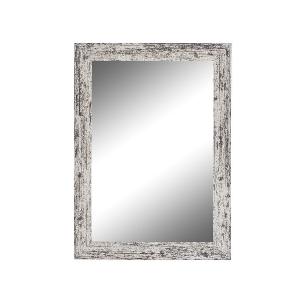 Medium Rectangle White Casual Mirror (23.5 in. H x 19.5 in. W)