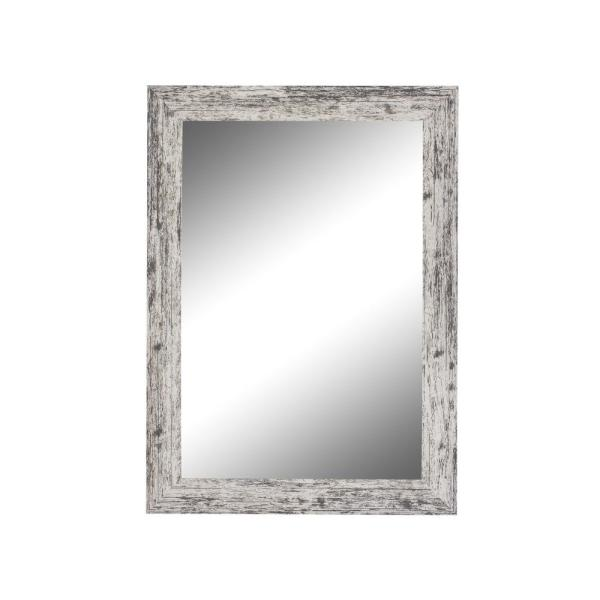 Medium Rectangle White Casual Mirror (36.5 in. H x 26.5 in. W)