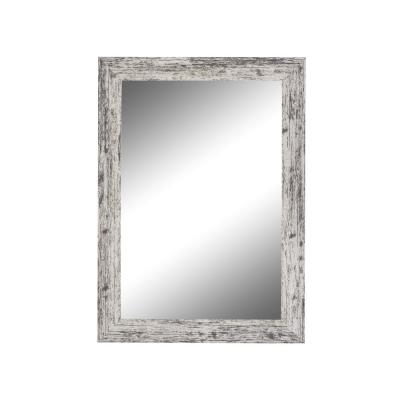 Medium Rectangle White Casual Mirror (23.5 in. H x 19.5 in. W)