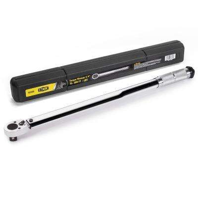 3/4 in. Drive 1-Way Micro-Adjustable Torque Clicker Wrench with Storage Case