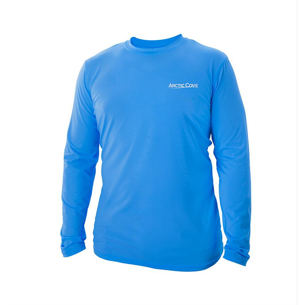 Men's Large Blue Long Sleeve Shirt