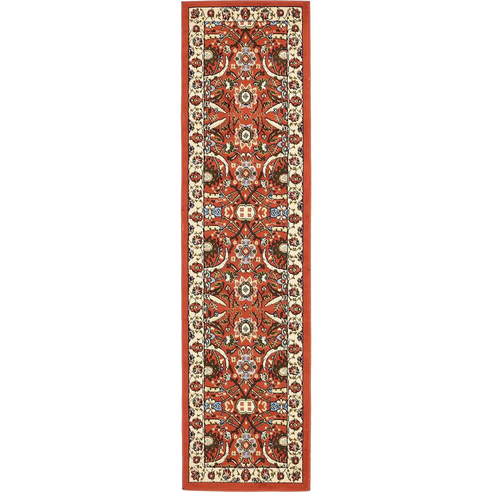 Unique Loom Isfahan Terracotta 2 Ft In X 8