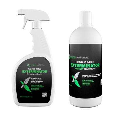 Hygea Natural 24 oz. Bed Bug Spray and 32 oz. Laundry Additive Combo
