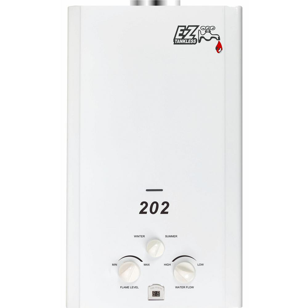 ez tankless 202 40 gpm btu propane gas portable tankless water heater