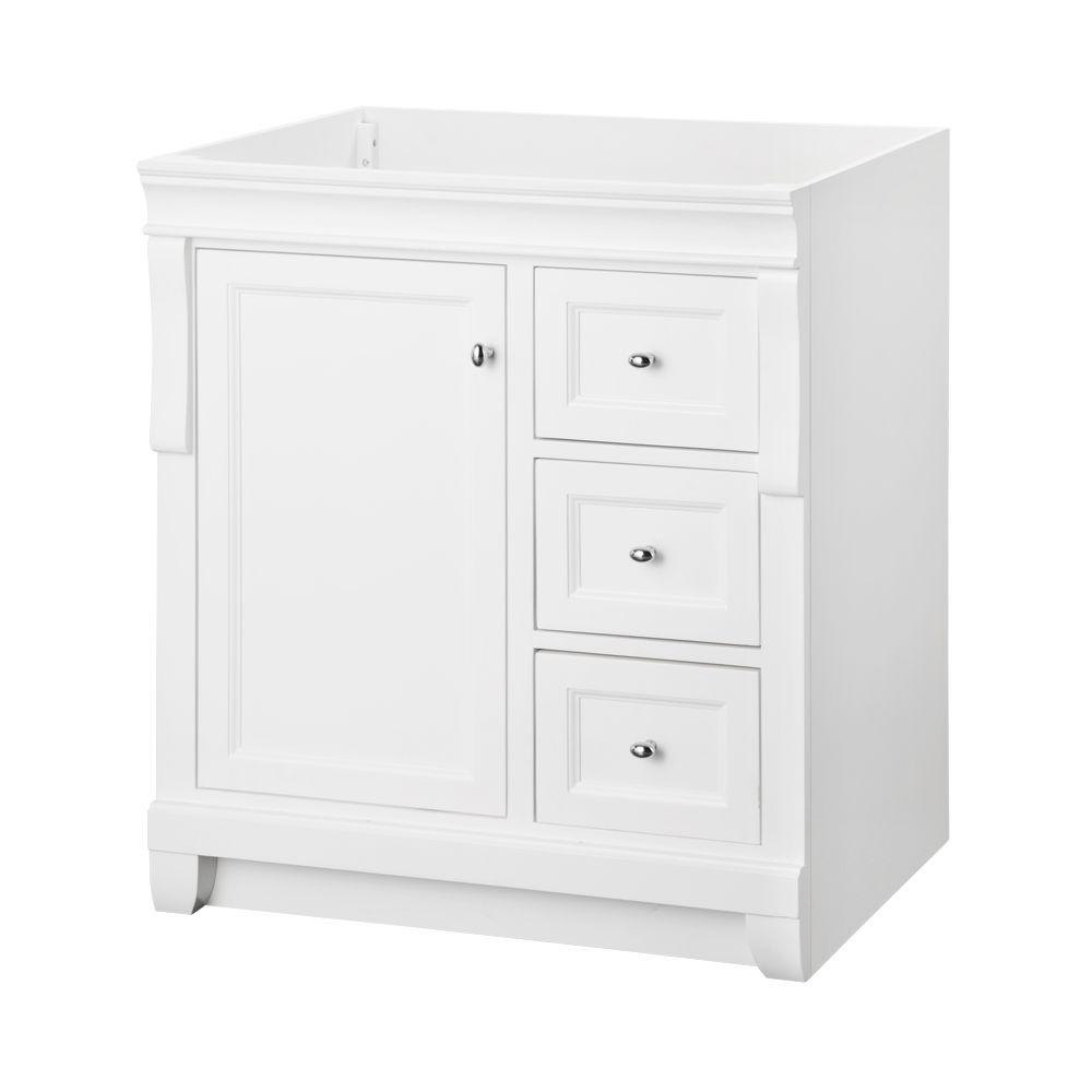 Foremost Naples 30 in. W x 21.75 in. D Bath Vanity Cabinet in White ...