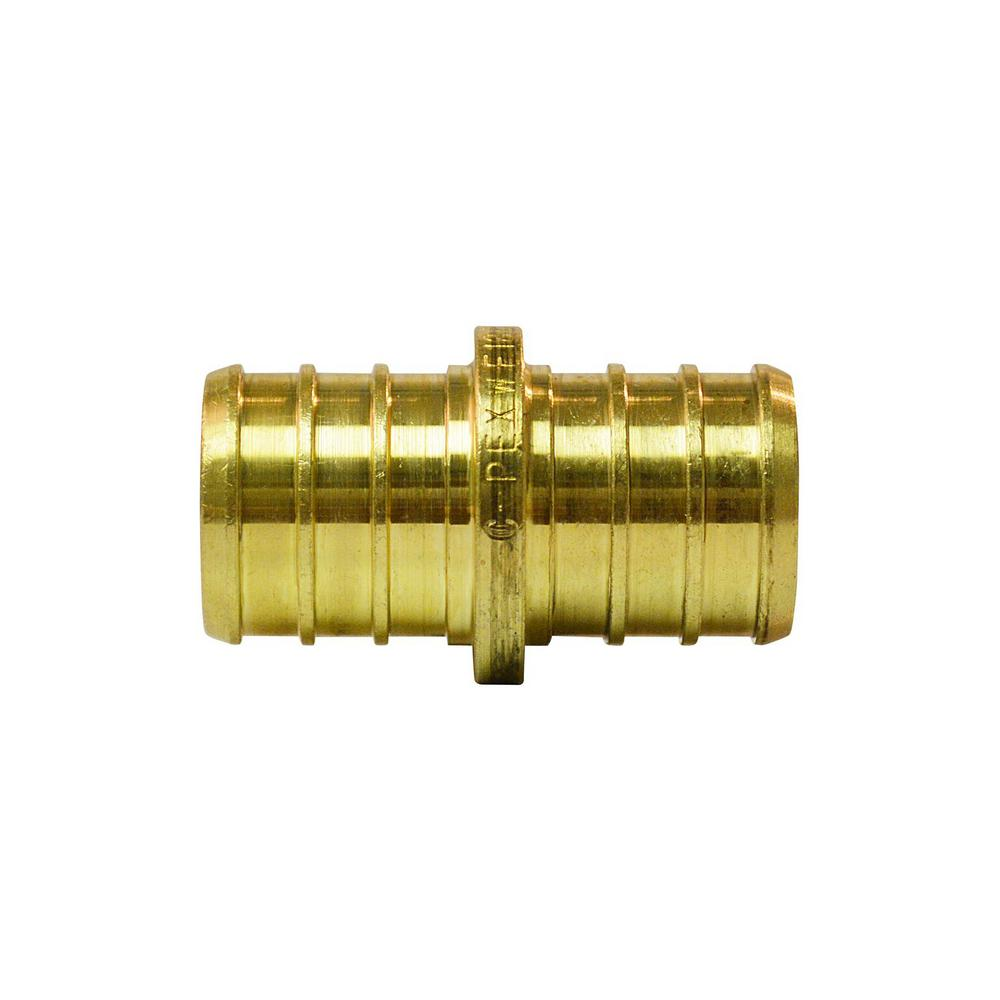 3/4 in. Brass PEX Barb Coupling (10-Pack)