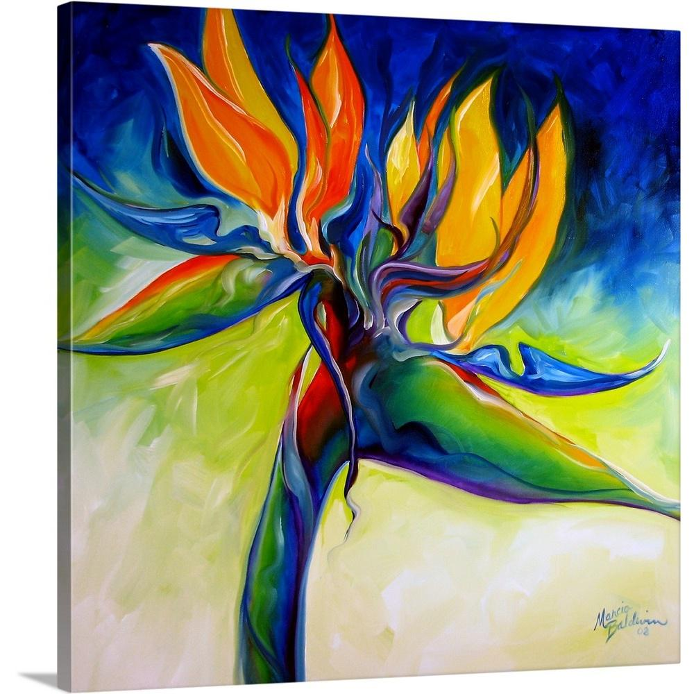 Greatcanvas Bird Of Paradise By Marcia Baldwin Canvas Wall Art