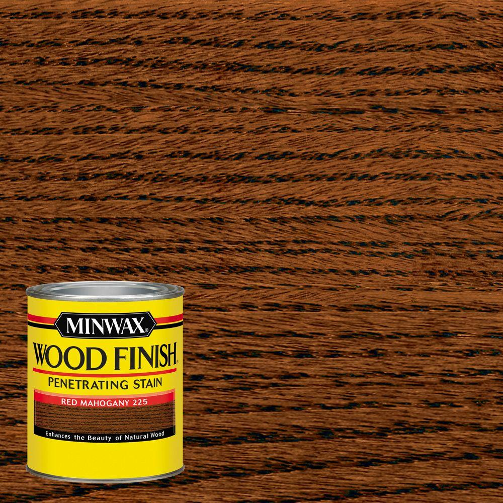 1 qt. Wood Finish Red Mahogany Oil Based Interior Stain