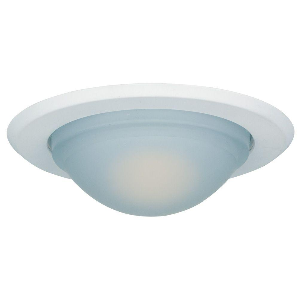 Commercial Electric 5 In White Recessed Can Light Shower Trim Ring Hbr516wh The Home Depot