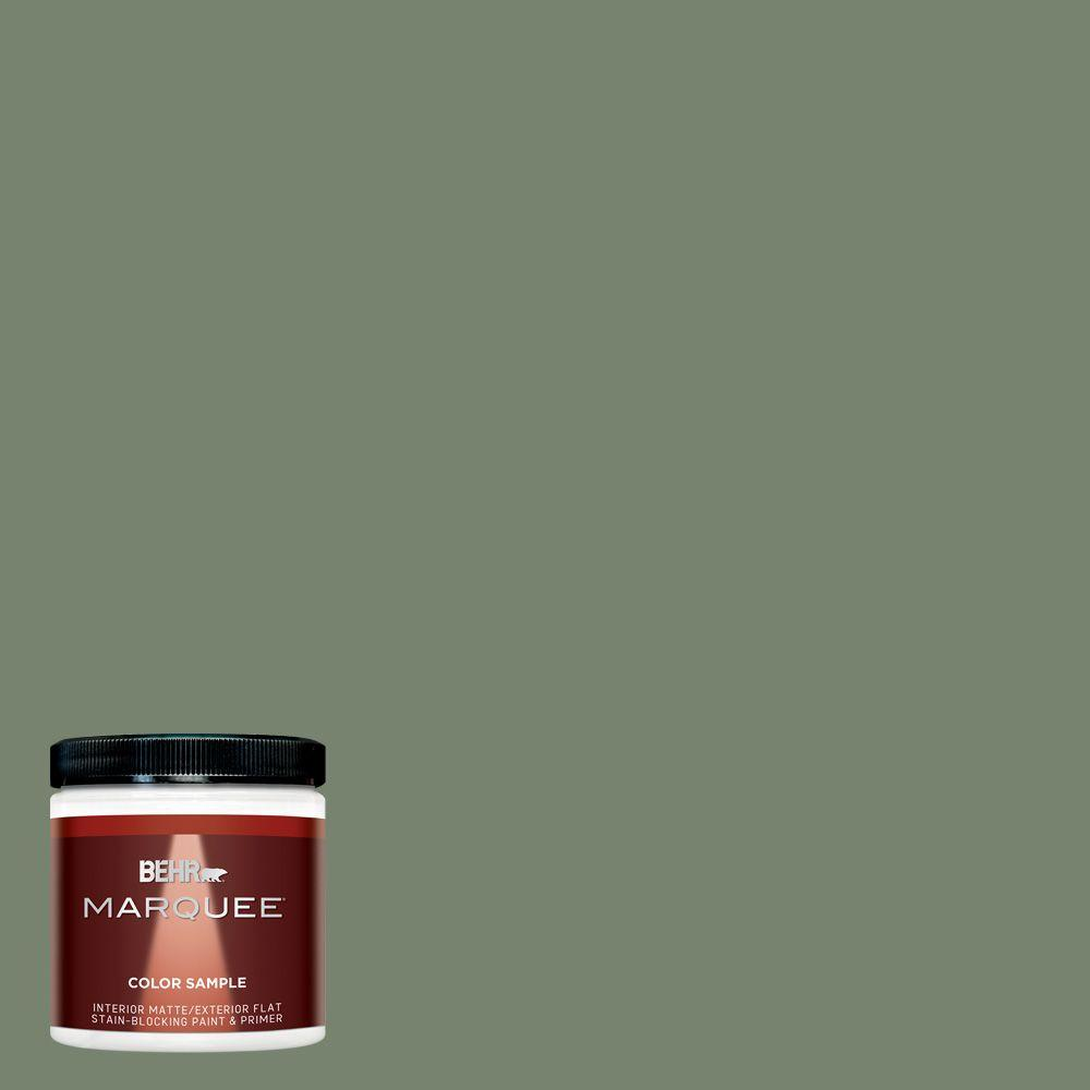 Home Depot Exterior Paint Prices: BEHR MARQUEE 8 Oz. #MQ6-16 Gazebo Green One-Coat Hide