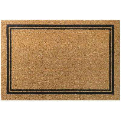 With Border 36 in. x 24 in. Slip Resistant Coir Door Mat