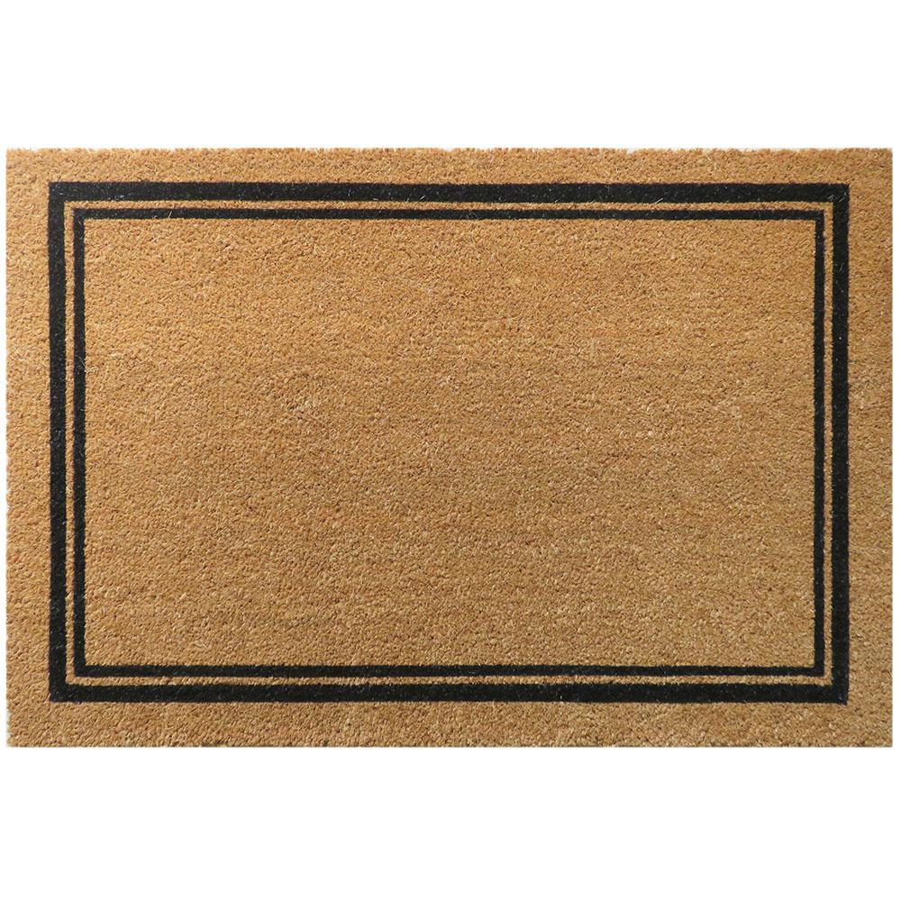 With Border 36 in. x 24 in. Slip Resistant Coir Door Mat