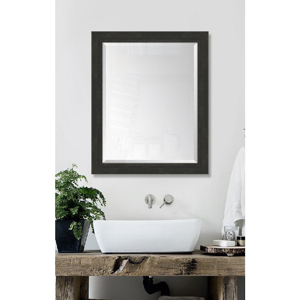 Melissa Van Hise 27 in. x 33 in. Framed Slate Black Large Mirror ...