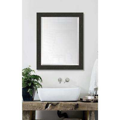 27 in. x 33 in. Framed Slate Black Large Mirror