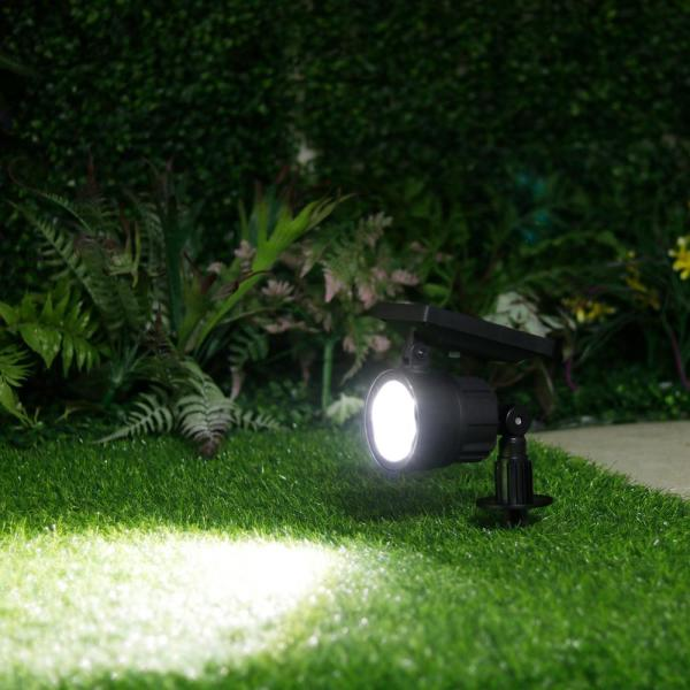 Westinghouse Solar 3 7 Volt Black Led Spotlight With Color Changing Light 4 Pack Sr32ab94h 08 The Home Depot