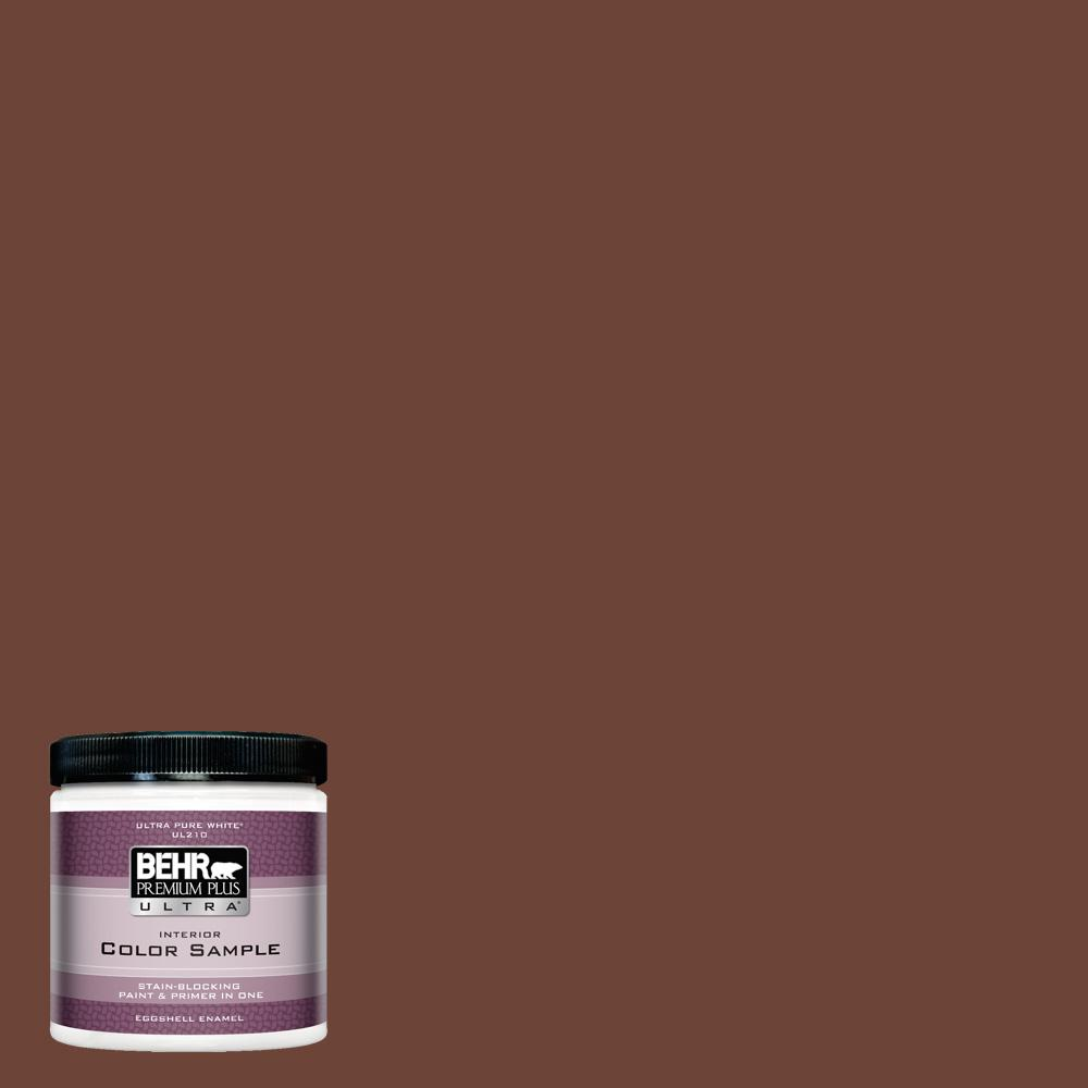 Behr Premium Plus Ultra 8 Oz Icc 81 Traditional Leather Eggshell Enamel Interior Paint And Primer In One Sample