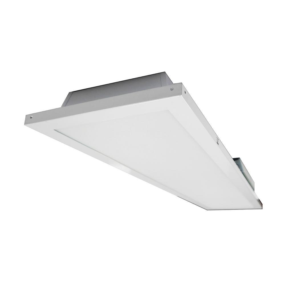 Lithonia Lighting 4 Ft 40 Watt White Integrated Led: NICOR Lighting 1 Ft. X 4 Ft. 150-Watt Equivalent White