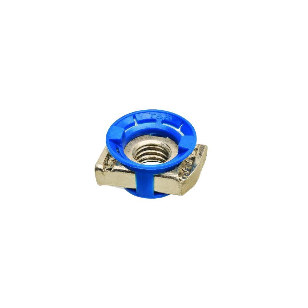 Superstrut 1/4 in. Nylon Strut Cone Nut - Gold Galvanized (10 Packs of 5/Case - 50 Total Pieces)